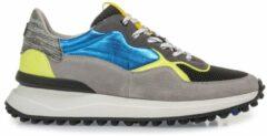 Floris van Bommel 16301 Sneakers heren Maat: 43,5 (9+) blauw 18 Blue suède