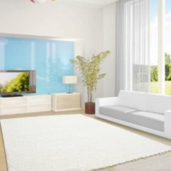 Life Hoogpolig Vloerkleed - Antalya - Rechthoek - Creme - 80 x 150 cm - Vintage, Patchwork, Scandinavisch & meer stijlen vind je op WoonQ.nl