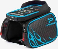 Promed Promend Fietsframetas voor Smartphones met TPU - aanraakscherm - Zwart-Blauw