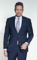 Donkerblauwe Pierre Cardin Future Flex Heren Colbert Maat EU52