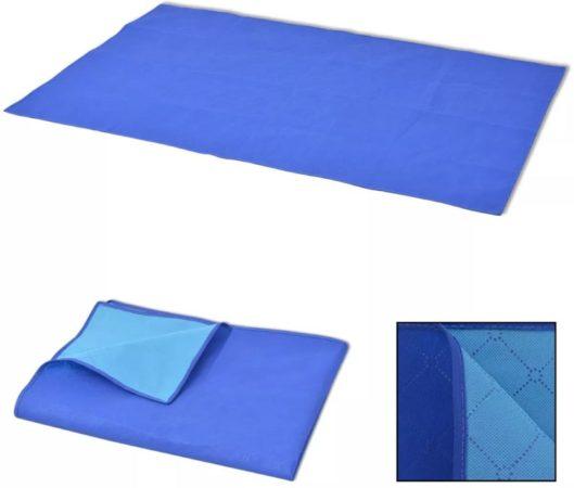 Afbeelding van VidaXL Picknick-kleed blauw en lichtblauw 100x150 cm