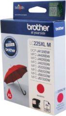 Paarse Brother LC-225M XL inkt cartridge magenta hoge capaciteit (origineel)