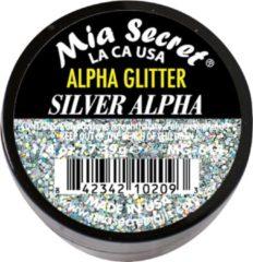 Zilveren Mia Secret Alpha & Dust Glitter Acrylpoeder Silver Alpha