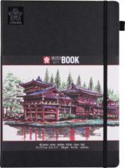 Creme witte Sakura schets/notitieboek - A4 - crème wit