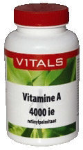 Vitals Vitamine A 4000 IE Voedingssupplement - 100 vegicaps