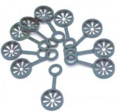 Groene Nature Kunststof Ring - Voor Wigwamconstructie van 3 plantstokken - dia. 8mm - 10 stuks