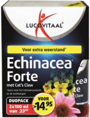 Lucovitaal - Echinacea Cat's Claw Weerstand druppels - 2 x 100 ml - Voedingssupplement