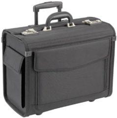 Pilotenkoffer Trolley 45,5 cm Laptopfach Dermata schwarz