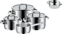 Zilveren WMF Function 4 Pannenset 5-delig met gratis stoominzet, Zwart