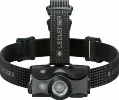 Grijze Ledlenser MH-7, Outdoor, headlamp, AFS, SLT, MC, red reading light, 5 LF, rechargeable, black / gray