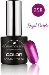 Paarse Cosmetics Zone UV/LED Hybrid Gel Nagellak 7ml. Royal Purple 258