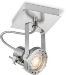 Home sweet home LED opbouwspot Robo ↔ 11,5 cm - mat staal