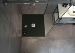 Zenon Solid Surface Douchebak Smart Slate Negro 90x90 cm - Doucheplaat Polymeer composiet - Douchevloer Zwart