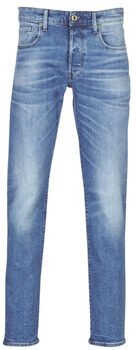 Afbeelding van Blauwe G-Star RAW straight fit jeans 3301 authentic faded blue