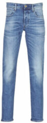 Blauwe G-Star RAW straight fit jeans 3301 authentic faded blue