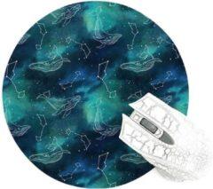 Turquoise Moodadventures | Muismatten | Muismat Walvissen Rond | Blauw | Rubber