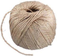 Creme witte Naturel touw 150 meter op rol - 3 mm - Sisalvezels 500 grams - Klus/tuin/hobby touw/draad