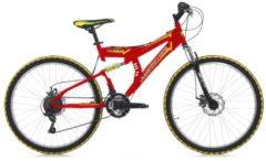 26 Zoll Cinzia Arrow Fully Mountainbike 21 Gang Cinzia rot