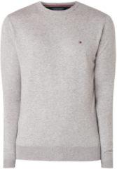 Licht-grijze Tommy Hilfiger Fijngebreide pullover in zijdeblend