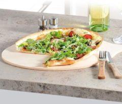 Decopatent FSC® Houten Pizzaschep voor Pizza's Ø30 Cm - Pizzaplank met handvat - Pizzaborden - Oven - Bbq - Serveerplank voor pizza of brood