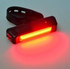 Zwarte Benson K-parts Fiets Bikelight COB USB Oplaadbaar (achter)