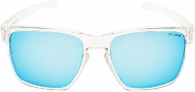 Afbeelding van ICON Sport Zonnebril PREDATOR - Transparant montuur - Blauw spiegelende glazen - GEPOLARISEERD (p)