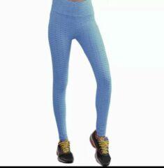 Sandy-commerce Sport legging anti cellulitis van hoge kwaliteit licht blauw L/XL