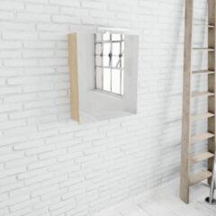 Zaro Beam spiegelkast licht eiken 60x70x16cm 1 deur