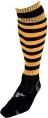 Precision voetbalsokken Hooped unisex nylon zwart/geel 40-44