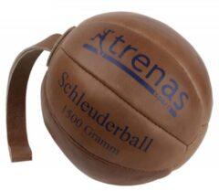 Bruine Trenas - Slingerbal - Schleuderball - Leer - 1.5 kg - Ø 21cm - Lus lengte 28 cm