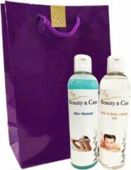 Beauty & Care - Cadeaupakket Body to Body massage XL - 250 ml Massage olie en After Massage