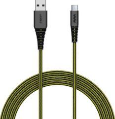 SoSkild Oplaadkabel USB-C - Levensduur van 22 jaar - 1,5 m - Zwart / Geel