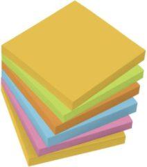 Sigel Plaknotitie MU120 75 mm x 75 mm Geel, Groen, Oranje, Blauw, Roze 6 blokken/pak 100 vellen
