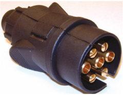 Zwarte Carpoint stekker kunststof 7-polig