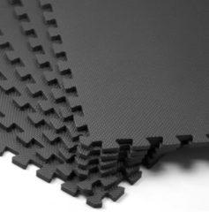 Merkloos / Sans marque Deuba Vloerbescherming/fitnessmat /puzzelmat 6st. zwart 183,5x123,5x1,2cm