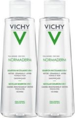 Vichy Normaderm Micellaire Reinigingslotion - 2x200 ml - Vette/Onzuivere Huid