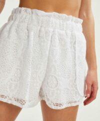 Witte Hunkemöller Dames Lace korte broek - maat XS