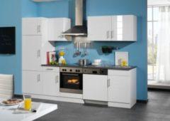 HELD Möbel Küchenzeile Nevada 280 cm Hochglanz weiß - ohne E-Geräte
