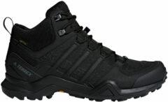 Zwarte Adidas TERREX SWIFT R2 MID GTX Heren Wandelschoenen - Core Black - Maat 42 2/3