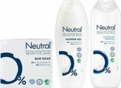 Neutral Parfumvrij - Shampoo + Douchegel + 2 x 100 gram Zeep