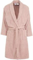 Roze Vandyck Prestige badjas van katoenvelours