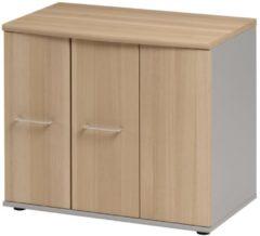Gamillo Furniture Opbergkast Jazz 71 cm hoog in beuken met licht grijs