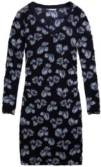 Enges Kleid mit Blumenprint sandwich True blue