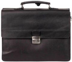 BURKELY Vintage Dean Briefcase Aktetas - 15 inch Laptoptas - Zwart