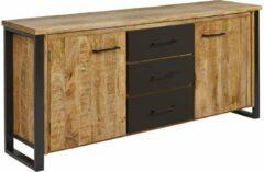 Zwarte Belfurn - San remo - dressoir 180 cm in mango hout