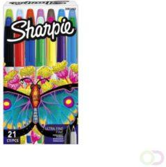 Sharpie permanent marker special edition vlinder - 14 stuks fine - 7 stuks ultrafine