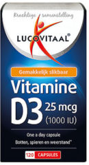 Lucovitaal - Vitamine D3 - 120 Capsules - Vitaminen - Voedingsupplementen