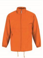 Merkloos / Sans marque Windjas/regenjas voor heren oranje maat 2XL