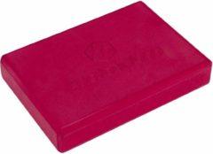 #DoYourYoga - Yogablok - »Damodar« - Platte Yogablock van gehard schuimstof - 300g, 28x20x5cm - rood