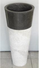 Zwarte Wastafel Imso Lavabo Conico Nero Marmer 40x90cm
